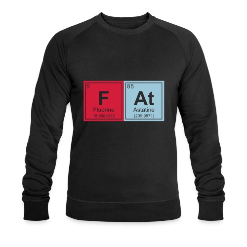 Geeky Fat Periodic Elements - Men's Organic Sweatshirt by Stanley & Stella