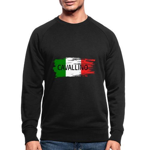 Cavallino auf Flagge - Männer Bio-Sweatshirt