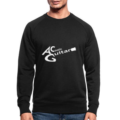 Acoustic Guitar Logo - White - Men's Organic Sweatshirt
