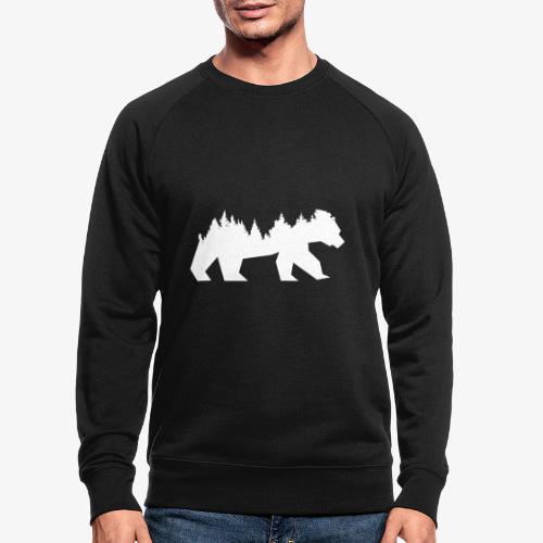 Bear Wald - Männer Bio-Sweatshirt