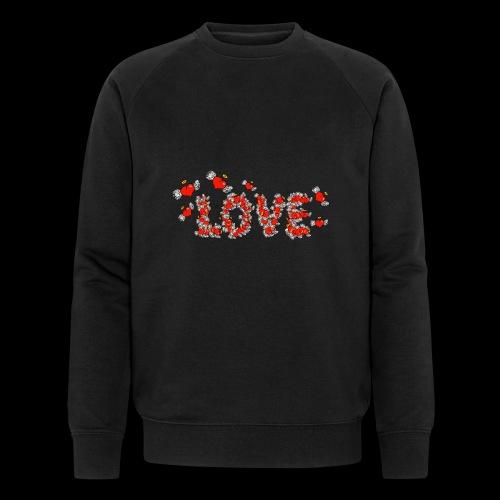 Flying Hearts LOVE - Økologisk Stanley & Stella sweatshirt til herrer