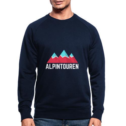 Alpintouren Logo - Männer Bio-Sweatshirt