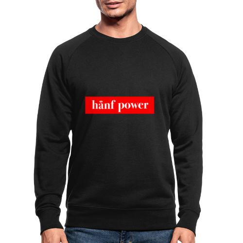 Hanf Power RED - Männer Bio-Sweatshirt