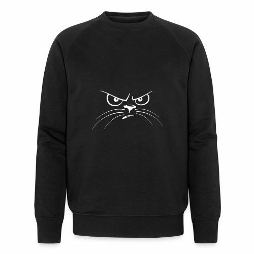GATTO ARRABBIATO BIANCO - ANGRY CAT - Felpa ecologica da uomo di Stanley & Stella