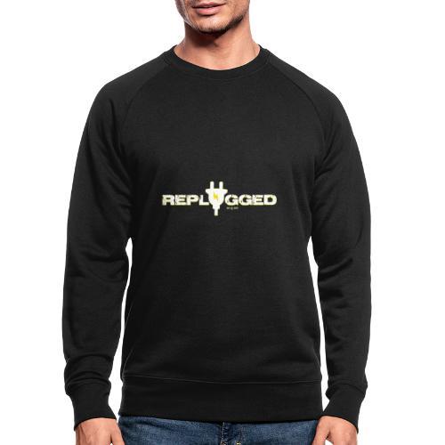 Replugged - Clip Art White - Men's Organic Sweatshirt