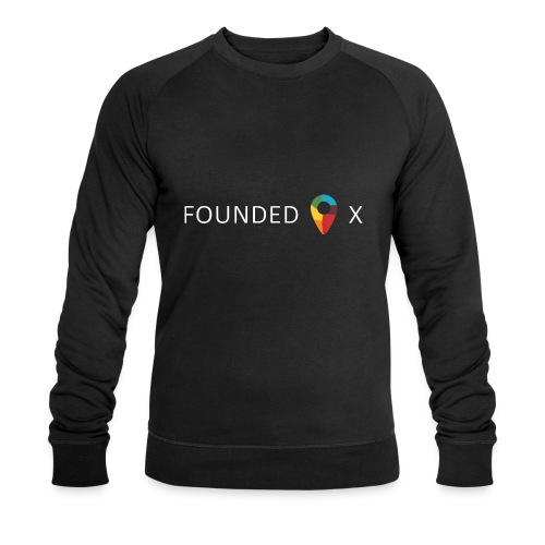 FoundedX logo white png - Men's Organic Sweatshirt by Stanley & Stella