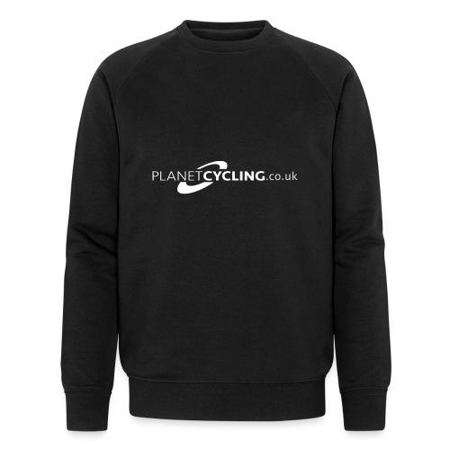 Planet Cycling Web Logo - Men's Organic Sweatshirt