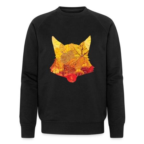 Fuchs aus Blätter - Männer Bio-Sweatshirt