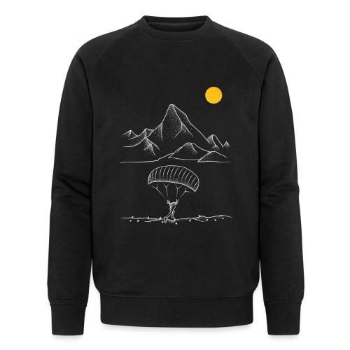 Gleitschirmfliegen Alpen Sonnenaufgang Berge - Männer Bio-Sweatshirt