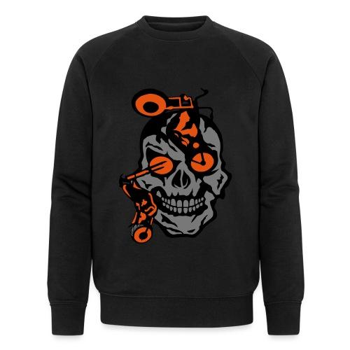tete mort moto motrocycle oeil skull - Sweat-shirt bio
