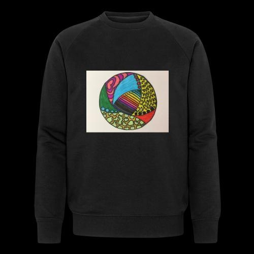 circle corlor - Økologisk sweatshirt til herrer