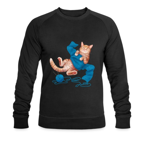 Cozy Cat - Männer Bio-Sweatshirt