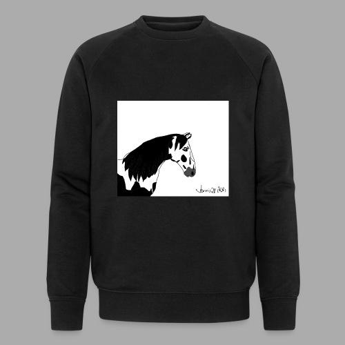 Pferdekopf mit Unterschrift - Männer Bio-Sweatshirt von Stanley & Stella