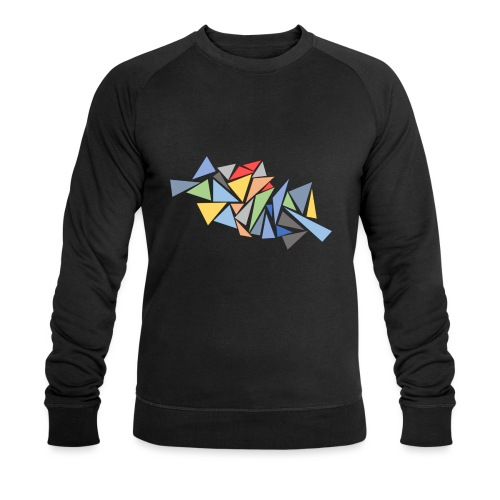 Modern Triangles - Men's Organic Sweatshirt by Stanley & Stella