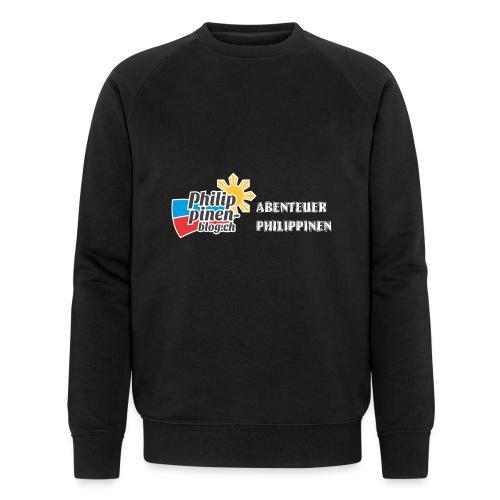 Philippinen-Blog Logo deutsch schwarz/weiss - Männer Bio-Sweatshirt von Stanley & Stella