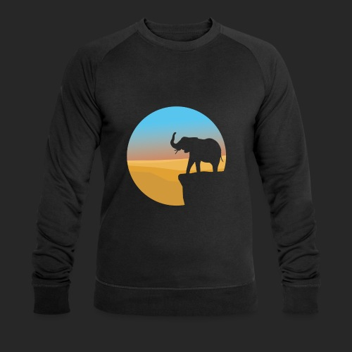 Sunset Elephant - Men's Organic Sweatshirt by Stanley & Stella