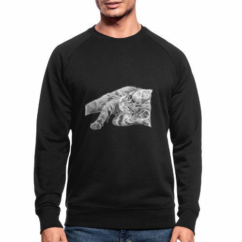 Petit chaton au crayon gris - Sweat-shirt bio