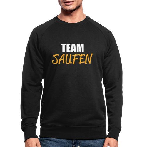 Team saufen Shirt - Männer Bio-Sweatshirt