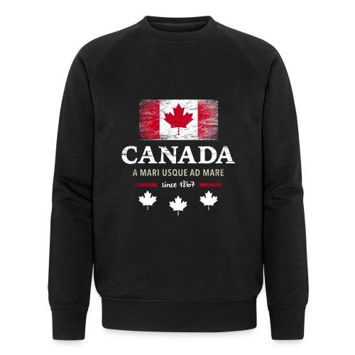 Canada Kanada Amerika maple leaf Flagge Fahne - Men's Organic Sweatshirt by Stanley & Stella