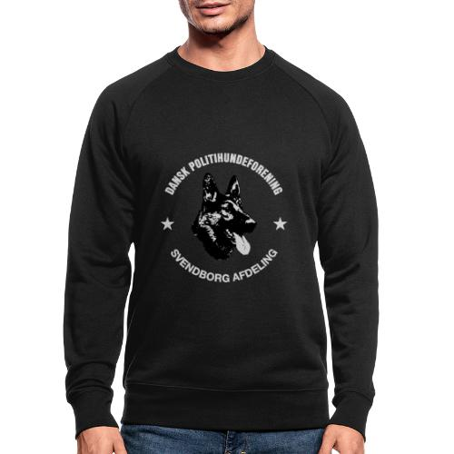 Svendborg PH hvid skrift - Økologisk sweatshirt til herrer