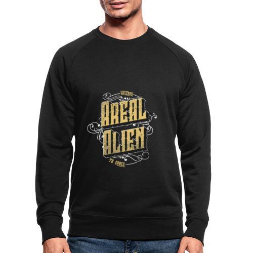 Areal Alien Vintage logo - Økologisk sweatshirt for menn