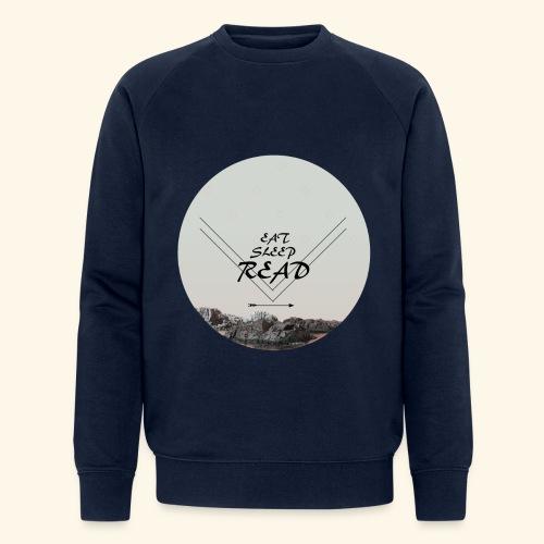 Eat, Sleep, Read - Ekologisk sweatshirt herr från Stanley & Stella