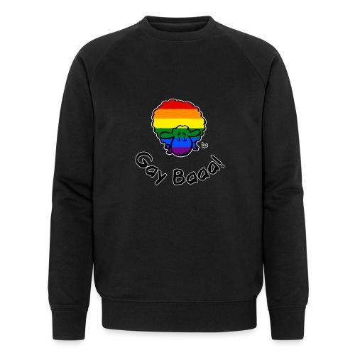 Homofil Baaa! Rainbow Pride Sheep (svart utgave) - Økologisk sweatshirt for menn fra Stanley & Stella