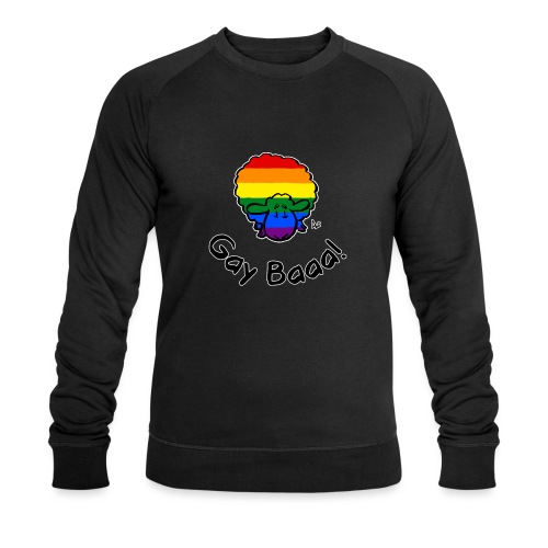 Homosexuell Baaa! Rainbow Pride Sheep (schwarze Ausgabe) - Männer Bio-Sweatshirt von Stanley & Stella