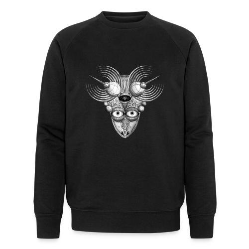 Androidenmaske 'Telepath' - Männer Bio-Sweatshirt