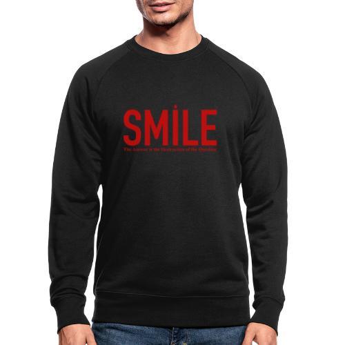 smile red star - Männer Bio-Sweatshirt