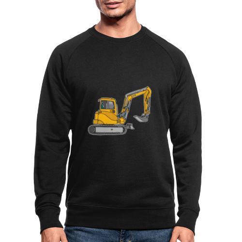BAGGER, gelbe Baumaschine mit Schaufel und Ketten - Männer Bio-Sweatshirt