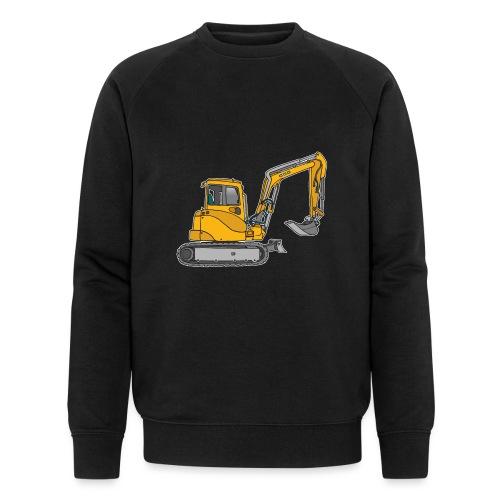Gelber Bagger - Männer Bio-Sweatshirt von Stanley & Stella