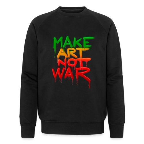 Make Art Not War - Økologisk sweatshirt til herrer