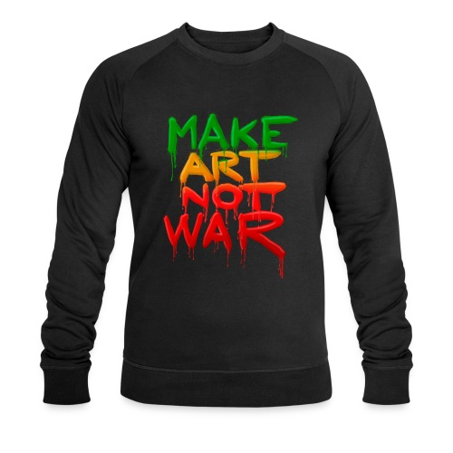 Make Art Not War - Økologisk Stanley & Stella sweatshirt til herrer