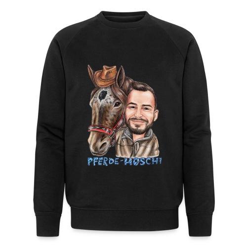 Pferde-Hoschi Kollektion hinten - Männer Bio-Sweatshirt von Stanley & Stella