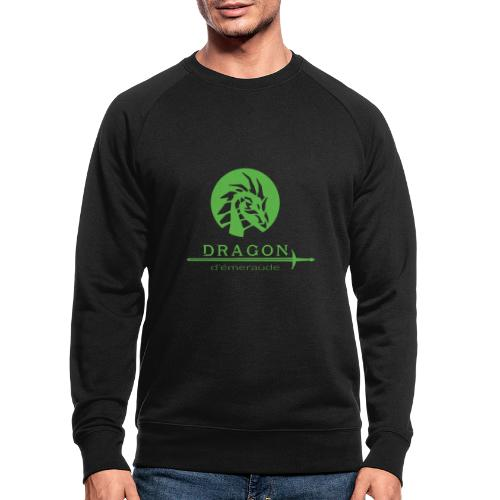 dragon d'émeraude vert - Sweat-shirt bio