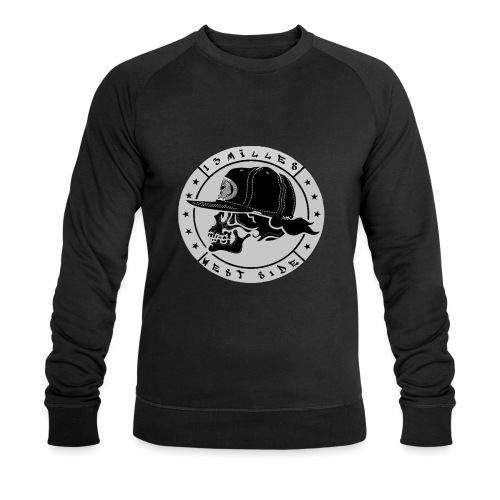 skull 13 milles noir et gris super design - Sweat-shirt bio