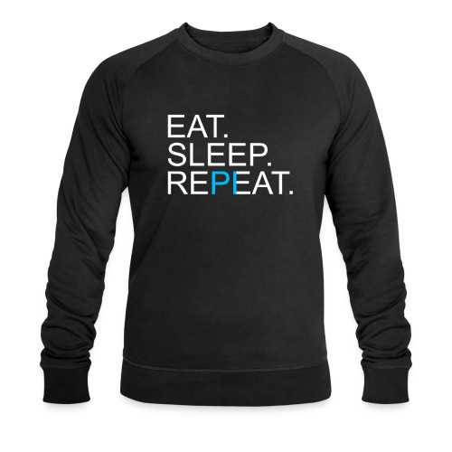 Eat Sleep Repeat PI Mathe Dunkel - Männer Bio-Sweatshirt von Stanley & Stella