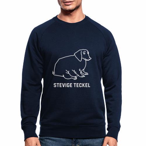 Stevige Teckel - Mannen bio sweatshirt