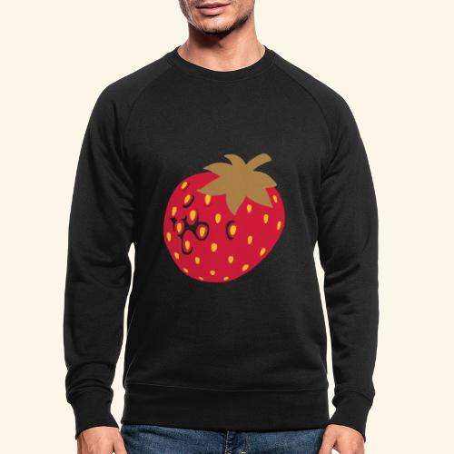 Erdbeere - Männer Bio-Sweatshirt