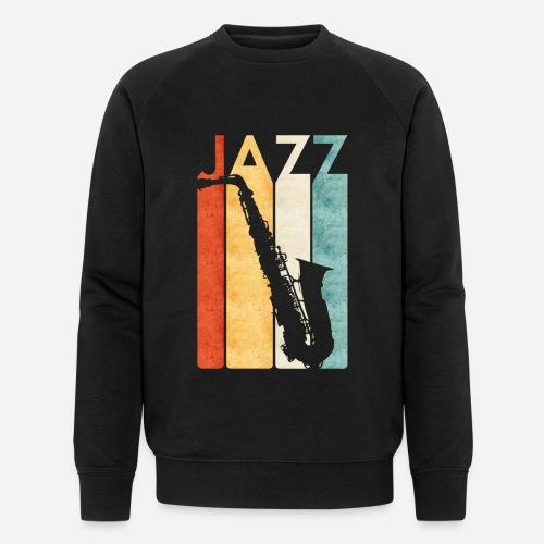 Jazz Saxophon Retro - Männer Bio-Sweatshirt von Stanley & Stella