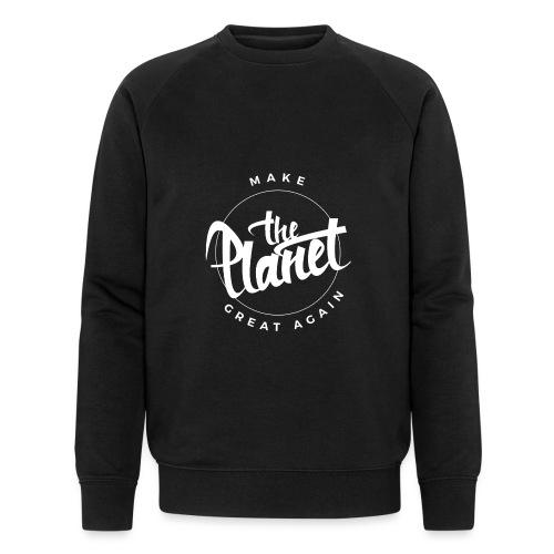 MakeThePlanetGreatAgain Organic Shirt Black - Men's Organic Sweatshirt by Stanley & Stella