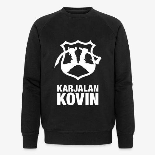 Karjalan Kovin Iso logo - Miesten luomucollegepaita