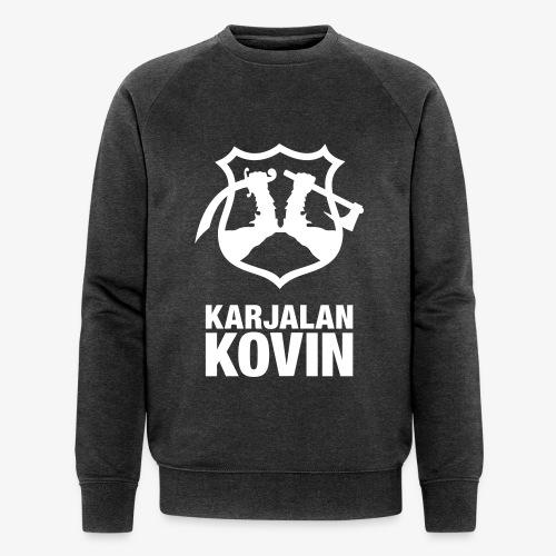 Karjalan Kovin Iso logo - Stanley & Stellan miesten luomucollegepaita