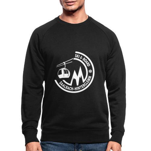 Ski & Board embleem Saalbach Hinterglemm - Mannen bio sweatshirt