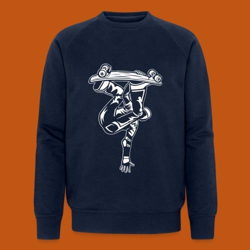 Skater / Skateboarder 03_weiß - Männer Bio-Sweatshirt von Stanley & Stella