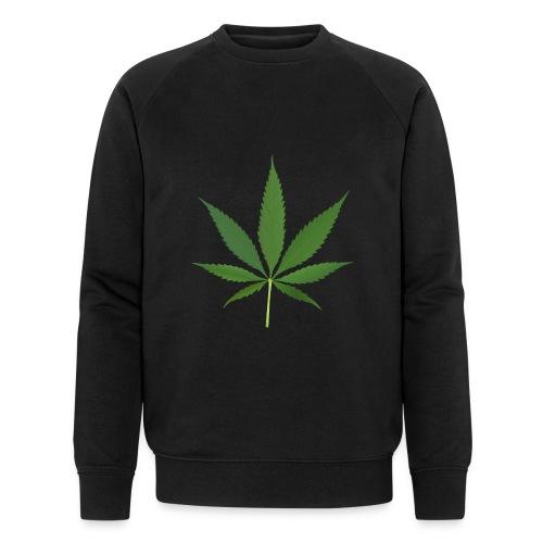 2000px-Cannabis_leaf_2 - Økologisk sweatshirt til herrer