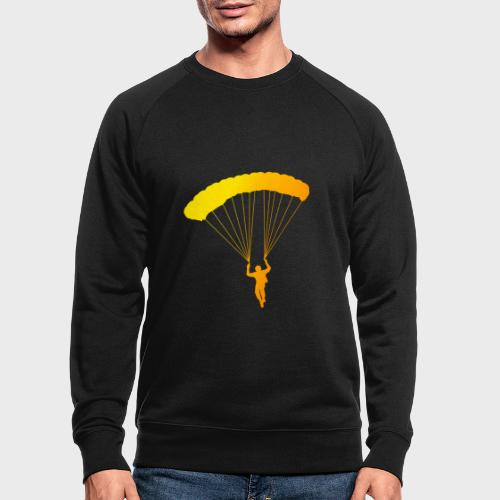 Colorfull Skydiver - Männer Bio-Sweatshirt