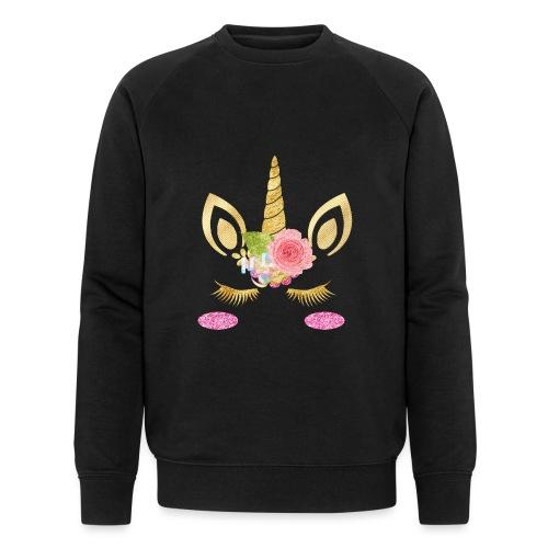 unicorn face - Männer Bio-Sweatshirt von Stanley & Stella
