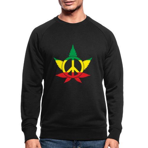 Peace färbig - Männer Bio-Sweatshirt